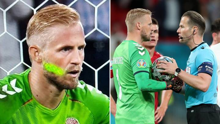 Kasper Schmeichel Told The Referee About Lasers In His Eye vs England And Has Shared Their Conversation