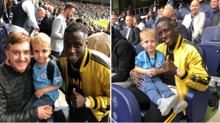 Manchester City's Benjamin Mendy Gives Father And Son Incredible Experience At The Etihad