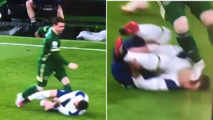 Sheffield United's John Fleck Appears To Stamp On Tottenham's Giovani Lo Celso's Face – But Escapes VAR Punishment