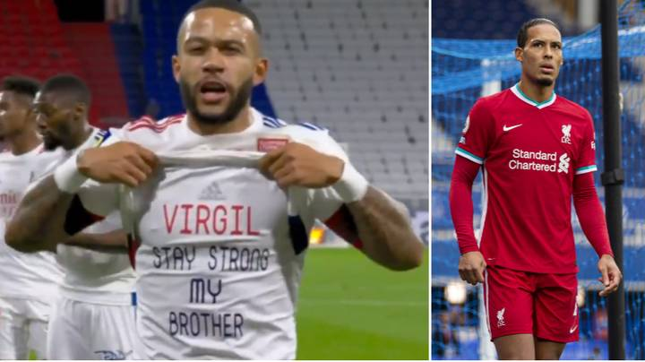 Memphis Depay Sends Message To Virgil van Dijk After Scoring For Lyon