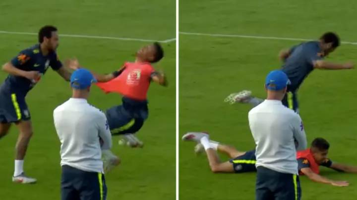 When Neymar Threw A Teenage Right-Back To The Floor After Being Nutmegged In Training