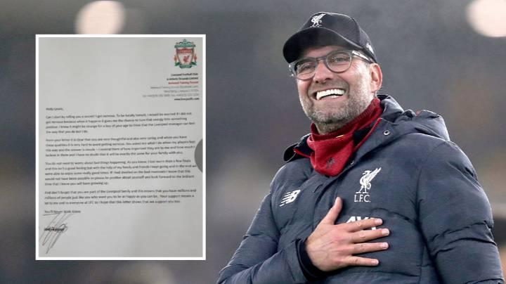 Jurgen Klopp Sends Letter To Young Boy Experiencing Stress And Anxiety Over Starting Secondary School