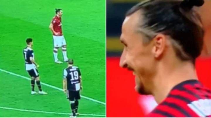 Zlatan Ibrahimovic's Epic Reaction To Cristiano Ronaldo Trying To Put Him Off During Penalty
