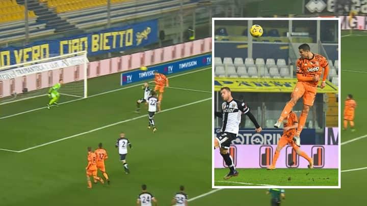 Cristiano Ronaldo Scores Gravity-Defying Header For Juventus With 'Superhuman' Leap