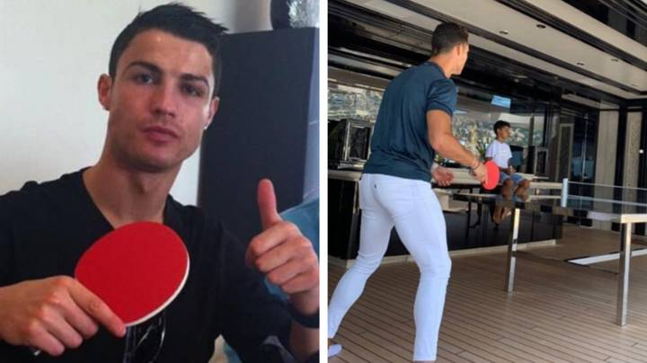 What Cristiano Ronaldo Did After He Lost A Game Of Table Tennis Proves His Elite Mentality