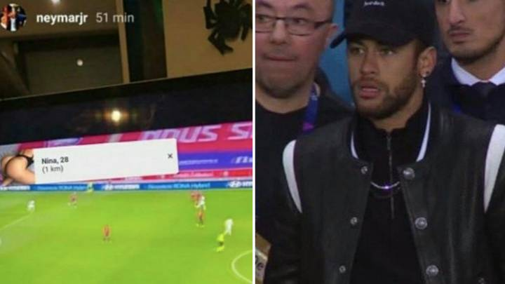 Neymar Was Watching The Football On An Illegal Stream