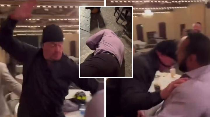 The Undertaker Chops Guy 'So Hard', Seems Like He's Enjoying His Retirement