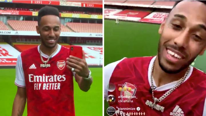 Pierre-Emerick Aubameyang Announces New Contract At Arsenal On Instagram Live