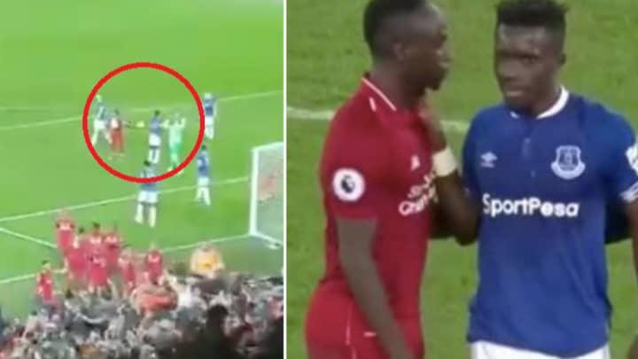 Sadio Mane Mocks Idrissa Gueye After The Evertonians Time Wasting