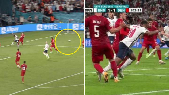 Fans Have Noticed A Second Ball On The Pitch Before England's Controversial Penalty vs Denmark
