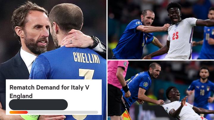 Fan's Petition Demands Rematch Of Euro 2020 Final After Giorgio Chiellini's Disgusting Challenge On Bukayo Saka
