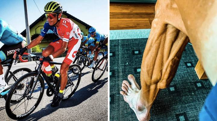 Cyclist Janez Brajkovic Posts Shocking Picture Of His Leg Muscles After Race