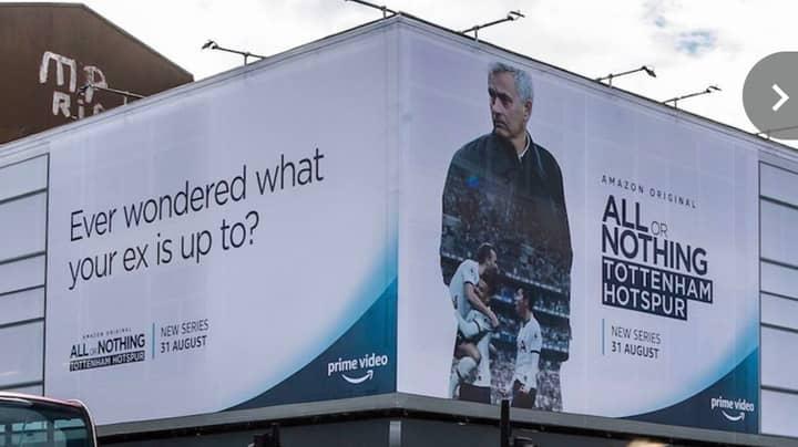 Huge Billboard Of Ex-Chelsea Boss Jose Mourinho Put Up Right Outside Stamford Bridge