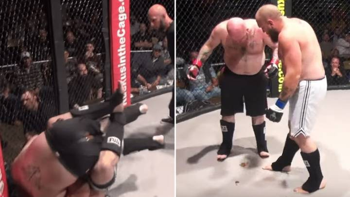 MMA Fighter  S**ts In The Cage After Suffering Submission Loss