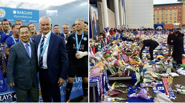 Leicester City's Title Winning Manager Claudio Ranieri Pays Respect To Vichai Srivaddhanaprabha