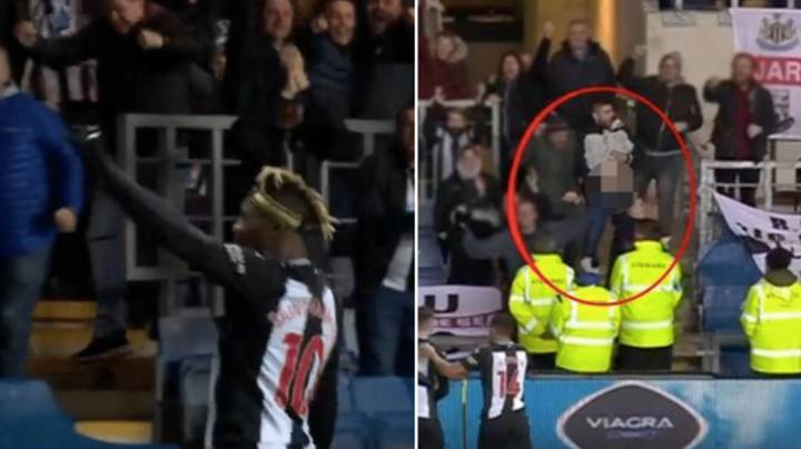 Allan Saint-Maximin Hilariously Reacts To Newcastle Fan's Helicopter Celebration