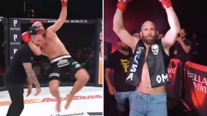MMA Fighter Wears Stone Cold Steve Austin's Attire And Pulls Off 'Stone Cold Stunner'