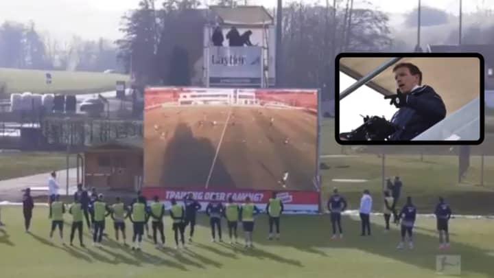 Hoffenheim Manager Julian Nagelsmann Is Doing Revolutionary Live Analysis On Giant Screen