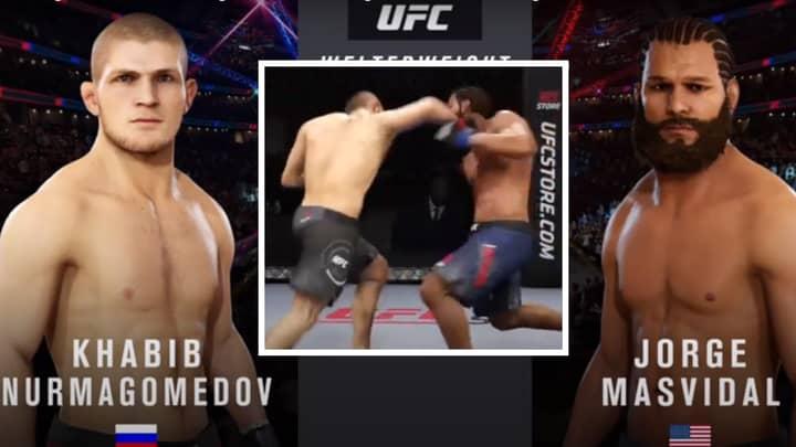 YouTuber Simulates Khabib Nurmagomedov Vs Jorge Masvidal Super-Fight On UFC 3 - One Man Wins Comfortably
