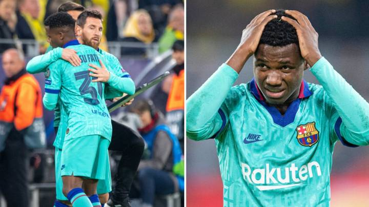 16-Year Old Barcelona Star Ansu Fati Is Ruled Out Of Inter Game Due To Growing Pains