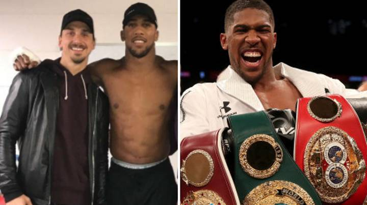 Zlatan Sends Brilliant Message To Anthony Joshua After He Wins Another World Title