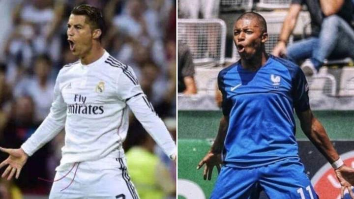 Fan Discovers All Of Kylian Mbappe's Celebrations Are Inspired By Cristiano Ronaldo