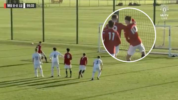 Manchester United Youngster Scores Panenka Penalty Against Leeds United, Celebrates With 'Take The L' Dance