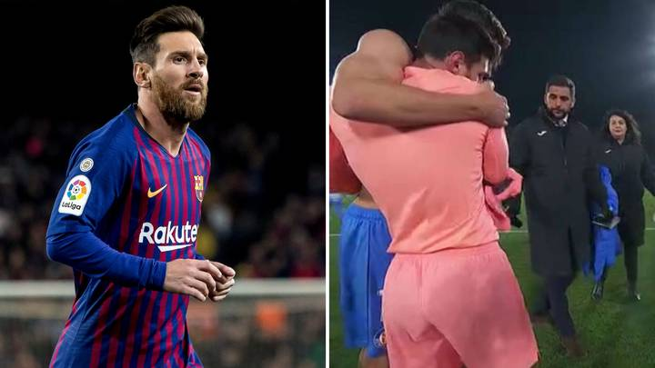 Lionel Messi's Touching Gesture Of Swapping Shirts With Getafe Player After Barcelona's Win