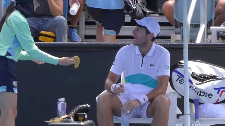Tennis Player Branded 'Nasty Piece Of Work' For Asking Ballgirl To Peel Banana