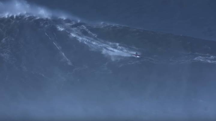 Surfer Breaks World Record For Riding Biggest Wave Ever