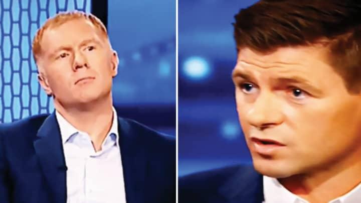 Paul Scholes' Priceless Reaction To Steven Gerrard Saying He Never Won The Premier League