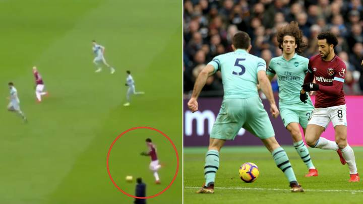 Felipe Anderson Adjusting His Gloves While Dribbling Against Arsenal's Defence Is Troll Level 1000