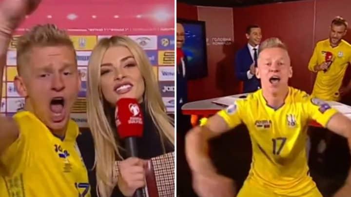 Oleksandr Zinchenko's Celebrations After Ukraine Confirmed Euro 2020 Qualification Are Brilliant
