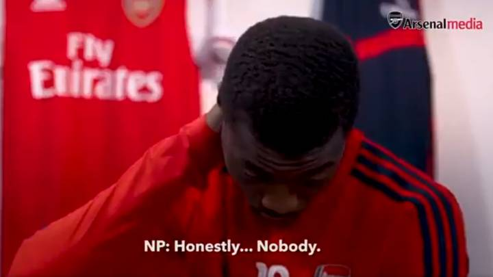 Arsenal Winger Nicolas Pepe Replies 'Nobody' When Asked Who His Toughest Opponent Has Been