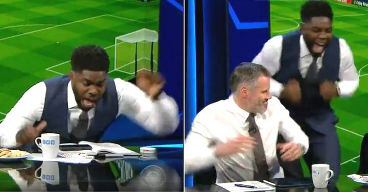 Micah Richards' Incredible Reaction To Manchester City's Goal Is Best Thing You'll Watch Today