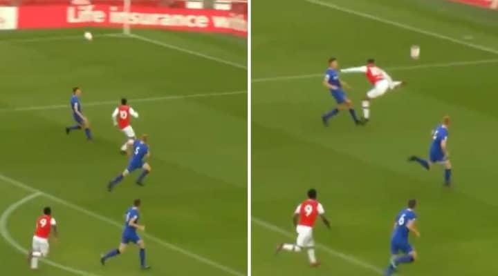Arsenal's Tyreece John-Jules Scores Sensational Backheel Volley At The Emirates