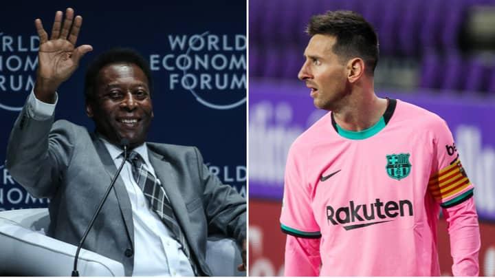 Santos Respond To Lionel Messi's Barcelona Goal Record, Say Pele Scored 1,091 Goals