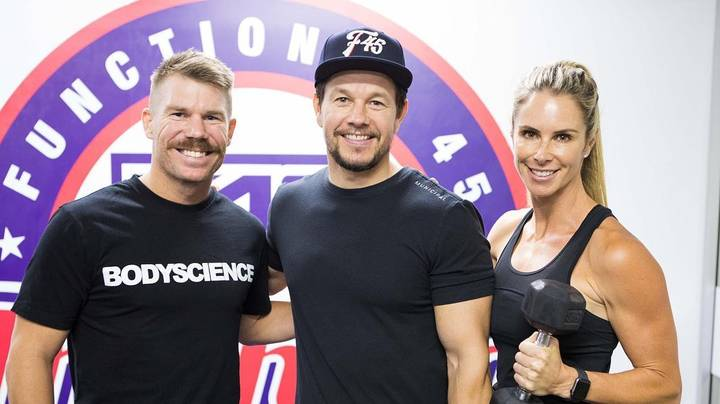Hollywood Actor Mark Wahlberg Trains At F45 Class In Sydney