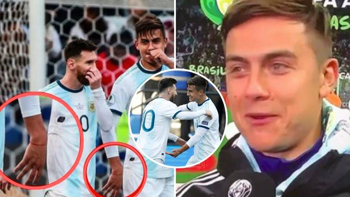 Lionel Messi Gave 'Lucky' Red Ribbon To Paulo Dybala Ahead Of Scoring First Goal For Argentina