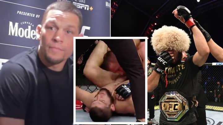 Nate Diaz Mocks UFC 254 Main Event Between Khabib Nurmagomedov And Justin Gaethje