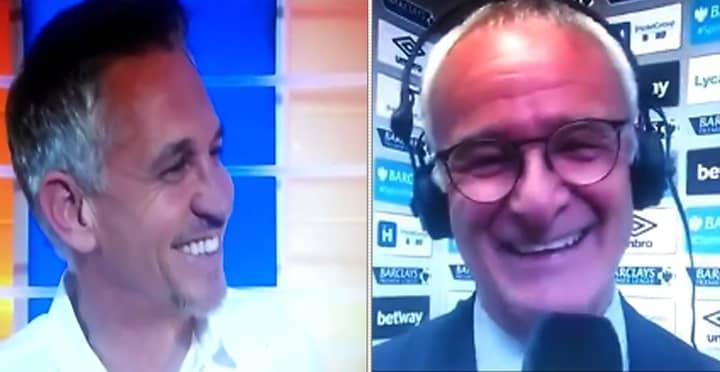Gary Lineker Reveals Funny Message Claudio Ranieri Had For Him