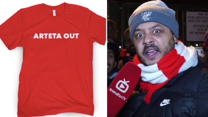 Arsenal Fan Troopz And Barstool Sports Are Selling 'Arteta Out' T-Shirts