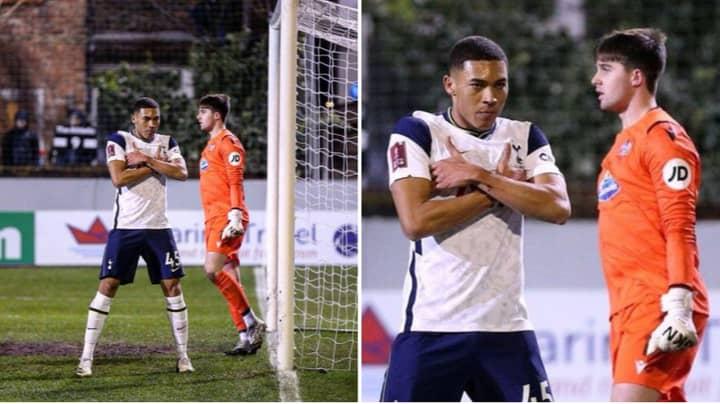 Fans Brutally Mock Carlos Vinicius For Celebrating Like 'Mbappe' After Scoring Tap-In Against Marine