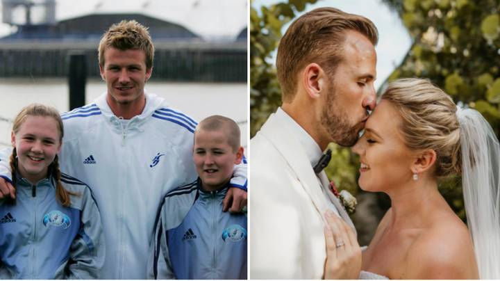 The Moment 11 Year Old Harry Kane Met David Beckham With Schoolgirl Who Would Become His Wife Sportbible