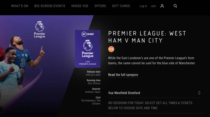 West Ham Fans Can Watch Game Against Manchester City Half A Mile Away In Local Cinema