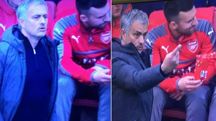 WATCH: Gary Neville Can't Believe The Arsenal Bench Are Eating Maltesers