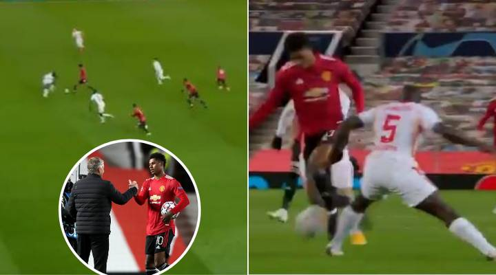 Man Utd Fans Think Marcus Rashford Has Lowered Dayot Upamecano's Price Tag After Sensational Performance vs Leipzig