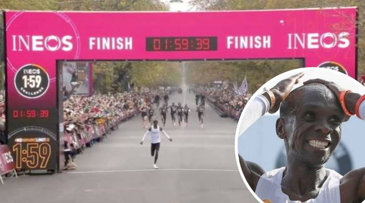 Eliud Kipchoge Becomes First Athlete To Complete Marathon In Under Two Hours