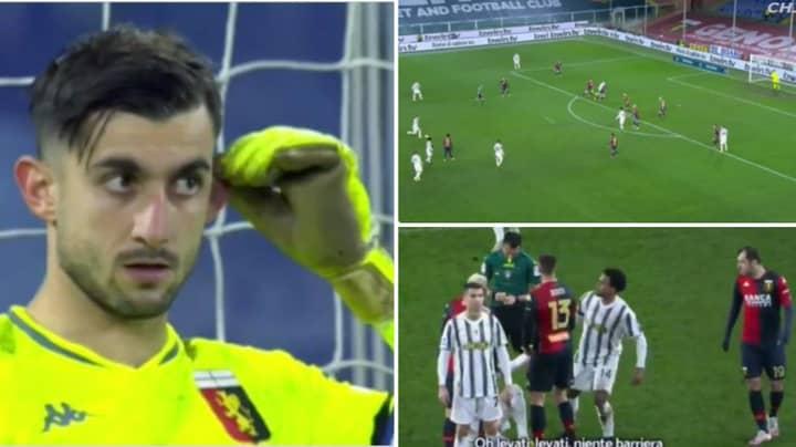 Cristiano Ronaldo Caught Mocking Goalkeeper As Video Picks Up Their Conversation