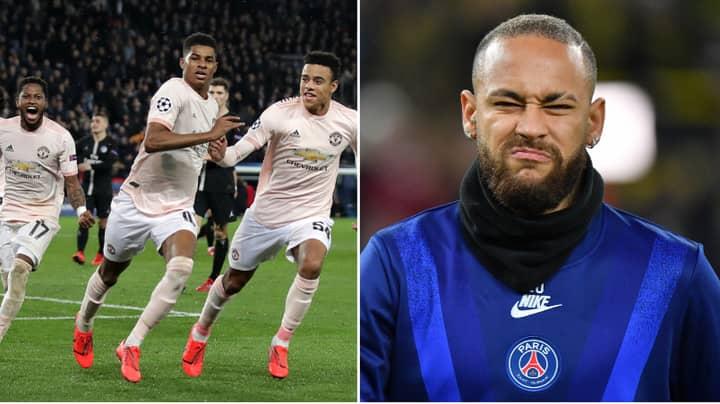 Neymar Leaves Hilarious Comment On Marcus Rashford's Manchester United Celebration Post